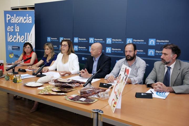 Diputación de Palencia firma sendos convenios con la Asociación Promotora Empresarial de Villarramiel y los Ayuntamientos de Baltanás, Frómista y Saldaña con el objetivo de apoyar y difundir los productos lácteos, la alubia y la cecina de laprovincia