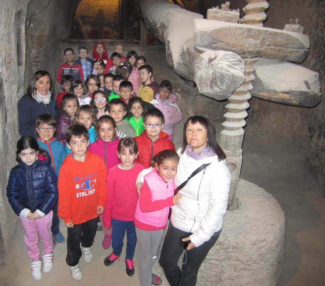 visita-alumnos-de-primaria-a-bodega-tradicional-y-bodega-hiriart-en-cigales-3