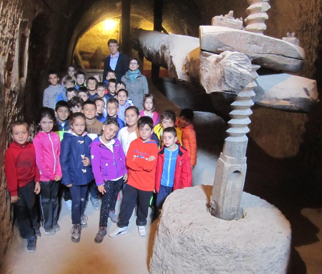 visita-alumnos-de-primaria-a-bodega-tradicional-y-bodega-hiriart-en-cigales-4