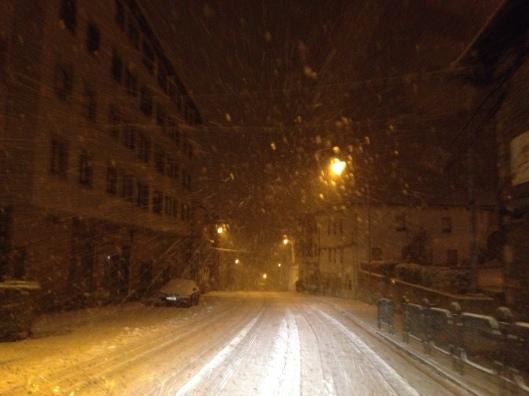 nieve noche