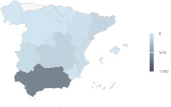 Mapa de concentración sectorial